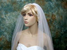 Mantilla bridal wedding veil ivory elbow alencon by alexbridal, $54.99