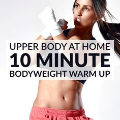 Try this quick warm up routine next time you want to prepare for an upper body workout. A 10 minute set of dynamic exercises to help you improve your flexibility, boost your metabolism and prevent injury. http://www.spotebi.com/workout-routines/upper-body-dynamic-warm-up-exercises/