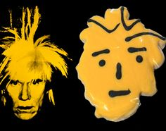 "Exemplos de sedução pelos itens de acervo. Andy Warhol ""Self Portrait"" Cookies no Andy Warhol Museum de Pittsburgh."