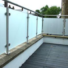 patio wall glass railing deck