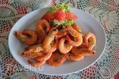 Тайская креветка. В салате и на сковородке