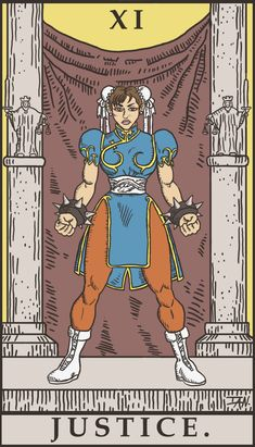 Street Fighter Tarot - Justice by SayIanIanIan.deviantart.com on @deviantART