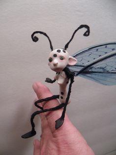 SALE ooak real BUTTERFLY creature FAIRY by DinkyDarlings on Etsy
