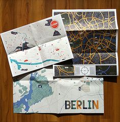 Another city guide example. map of berlin. herb lester guides to the usual and unusual / via grain edit. Map Design, Travel Design, Book Design, Layout Design, Print Design, Layout Inspiration, Graphic Design Inspiration, Dm Poster, Posters