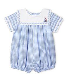 fc69a39ee884 Blue Checkerboard Sailor Romper - Infant  zulily  zulilyfinds