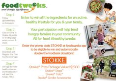 Enter to win a Stokke prize package worth $2,000!  #foodtweeks #Giveaway