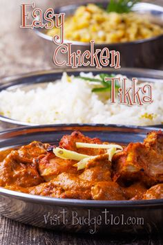 Super easy Chicken Tikka Recipe.  I would cut down on the salt and definitely use lite coconut milk in place of the heavy cream.  I like boneless skinless chicken thighs in this kind of recipe.