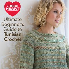 Ultimate Beginner's Guide to Tunisian Crochet -- Tunisian crochet is a type of crochet that holds multiple loops on the hook in a style similar to what is done in knitting. It differs from knitting in that it uses a crochet hook, not knitting needles. The result is a fabric that is beautifully textured using a technique that combines the best of knitting and crochet. Tunisian crochet is also commonly known as Afghan Crochet.