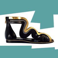 Parrice   #parrice #preview #sandals #greece #archaic #snake #calfskin #gold #transparent #net
