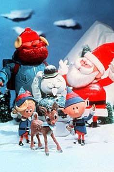 """""""Rudolph the Red-Nosed Reindeer"""" - Rudolph saves the day (Christmas, of course!) in this classic movie, based on """"Rudolph the Red-Nosed Reindeer,"""" a song we all know and love by Johnny Marks. Merry Christmas, All Things Christmas, Christmas Time, Vintage Christmas, Christmas Specials, Rudolph Christmas, Magical Christmas, Christmas Shows For Kids, Christmas Collage"""