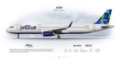 Airbus A321 JetBlue Airways N964JT | www.aviaposter.com | Aleksey Rubtsov | Flickr