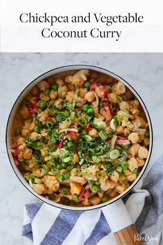 Chickpea and Vegetable Coconut Curry #purewow #dinner #cauliflower #main course #recipe