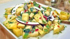 Salat med mango og ananas høres ut som en fruktsalat. Men denne gangen lager Anne Hjernøe en fruktsalat til det salte kjøkken. Chili, koriander og mynte bidrar til det.