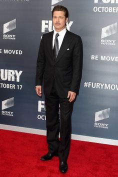 Brad Pitt proves you can't go wrong in a classic black suit.