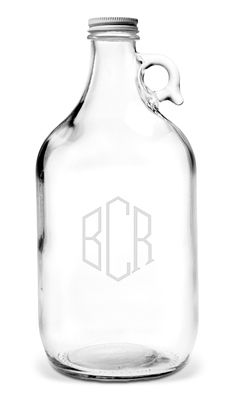 Monogrammed Beer Growler