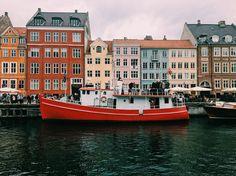 Nyhavn, Copenhagen. Copenhagen, Denmark. This city needs to be on your travel bucket list. Loved every second here. A European Travel dream!