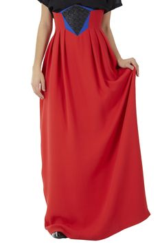 @Alisha Sopota oest High-Waist Maxi Skirt this one minus the weird colors of blue and black