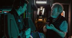 Alien Covenant First Look at Danny McBride On Set -- Director Ridley Scott is seen going over important dialogue with Danny McBride on the set of Alien Covenant. -- http://movieweb.com/alien-covenant-danny-mcbride-set-photo/