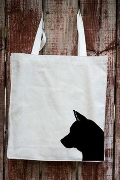 Shiba Inu Canvas Tote Bag | Gift Ideas for Dog Lovers – Tote Tails - gifts for…