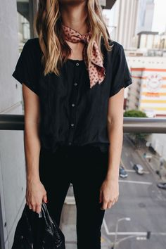 All black fall outfit, blogger