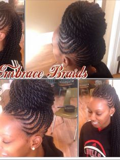 Love this Protective a Style! #braidedmohawk