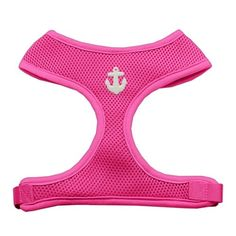 White Anchors Chipper Pink Dog Harness Medium -- Click image for more details.(It is Amazon affiliate link) #love