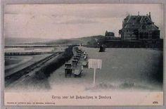 Hotels, Terrassen DOMBURG    Beschrijving Terras Badpaviljoen. Rechts villa 'Marie', later villa 'Zeerust'.  Datering 1905 ca.
