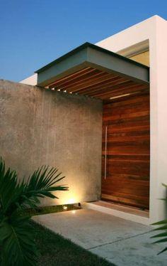 Modern House Entrance Designs Exterior 22 Ideas for House Rustic Modern Exterior… Modern Entrance Door, Modern Front Door, Entrance Design, House Entrance, Modern Exterior, Exterior Design, Rustic Exterior, Cafe Exterior, Exterior Signage