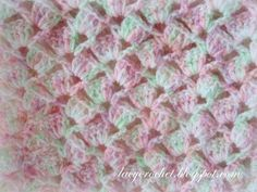 This is the seventh baby blanket I've made this year. I used Bernat Baby Sport yarn, and my blanket came out very light and airy....