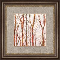 Though the Trees I Framed Painting Print