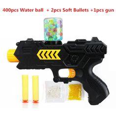Cool Paintball zachte pistool water orbeez pistool EVA kogel + water bomb dual-purpose pistol uitbarstingen van kristal speelgoed schieten nerf