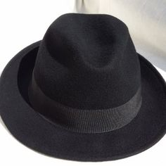 New classic round top noir laine feutre chapeau melon