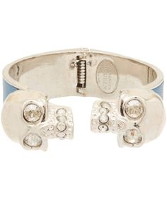 Alexander McQueen Blue and Silver-Tone Skull Cuff   Jewellery by Alexander McQueen   Liberty.co.uk