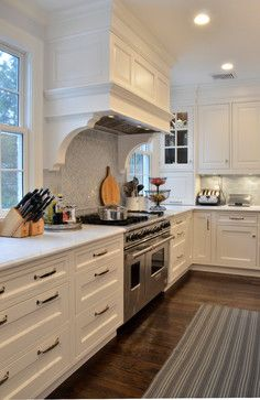 Corbels Under Hood. Kitchen ...