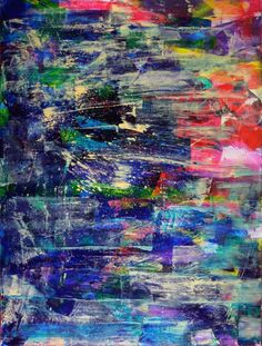 ARTFINDER: Underwater colorfield by Nestor Toro - All of my painting start with big bold strokes of many colors. Love creating those first layers building up into a complex combination of shapes, colors and ...