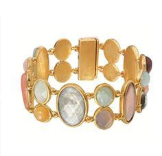 BRACELET R522 BY SENCE COPENHAGEN  Harlequin bracelet multi-stone worn gold  http://www.zalando.co.uk/sence-copenhagen-harlequin-bracelet-gold-6se51e01k-f11.html