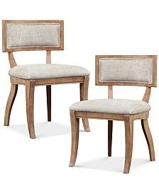 Feagin Set of 2 Dining Chairs, Direct Ship
