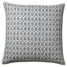 Udaipur square cushion cover featuring a pretty diamond print in indigo blue on heavyweight natural linen. Plain backed. Scatter Cushions, Outdoor Throw Pillows, Bed Pillows, Accent Pillows, Neutral Sofa, Luxury Cushions, Rattan Furniture, Furniture Design, Velvet Color