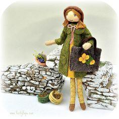 Handmade ooak artisan felt doll 'Verity Hope'