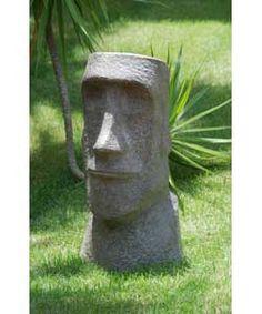 Easter Island Man garden statue (DIY with hypertufa)