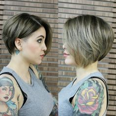 Shaved Haircuts for Short Hair - Straight Bob Hairstyle for Summer