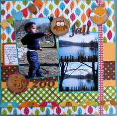 www.mycreativescrapbook.com October 13 Album kit featuring Doodle Bug's Happy Harvest.