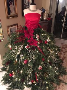 a parisian inspiration i love my mojo this year fall christmas treemannequin christmas treedress - Christmas Tree Dress