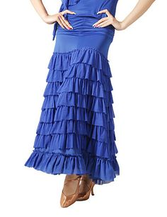Dancewear Viscose and Tulle Modern Dance Skirt