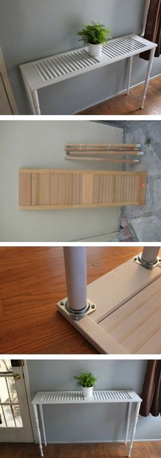 Check out how to build a DIY side table from an old shutter @istandarddesign