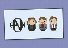 Hanson band cross stitch pattern