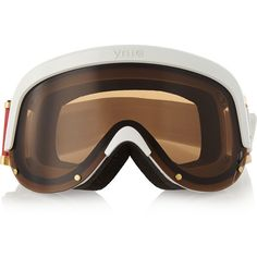 YNIQ One ski goggles ($370) ❤ liked on Polyvore featuring white