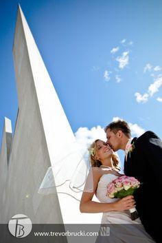 Wedding photography at WAG (Winnipeg Art Gallery).