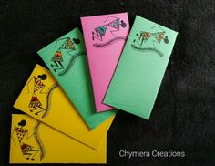 Paper Quilling Cards, Origami And Quilling, Quilling Art, Fancy Envelopes, Handmade Envelopes, Paper Envelopes, Envelope Art, Envelope Design, Diwali Poster