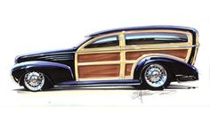 Chip Foose automotive design, custom cars, art and the Overhaulin' television show. Chip Foose, Classic Hot Rod, Classic Cars, Rat Rods, Vintage Cars, Antique Cars, Muscle Cars, Woody Wagon, Classic Motors